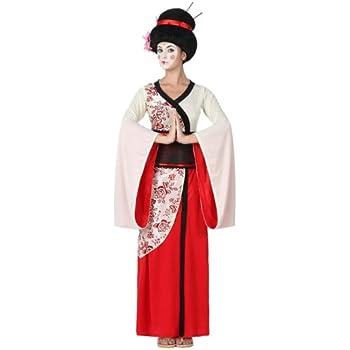 Atosa - Disfraz geisha para mujer, talla M - L, color rojo (15284 ...