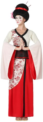 Atosa - Disfraz geisha para mujer, talla M - L, color rojo (15284)