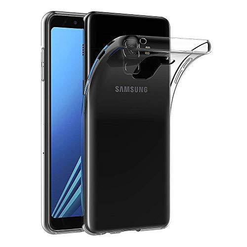 COPHONE® Coque Compatible avec Samsung Galaxy A8 2018 Etui Transparent antidérapent Discrete Coque en Silicone Transparente Samsung Galaxy A8 2018. Housse Samsung Galaxy A8 2018