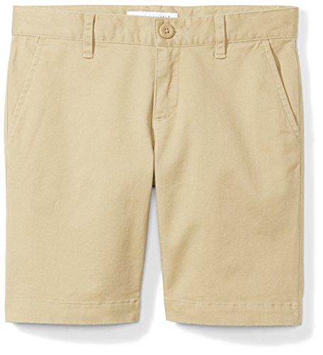 Amazon Essentials Little Girls' Uniform Short, Khaki,5
