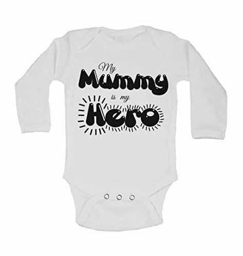 My Mummy est My Hero – personnalisé bébé à manches longues gilets bodies bébé SE Développe pour garçons, filles – Blanc – 2–3 ans