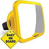 MODELO MEJORADO | Espejo para vigilar al bebé en el coche ROYAL RASCALS | El espejo retrovisor nº1 MÁS SEGURO para los asientos de niños orientados hacia atrás | Inastillable | PRODUCTO PREMIUM