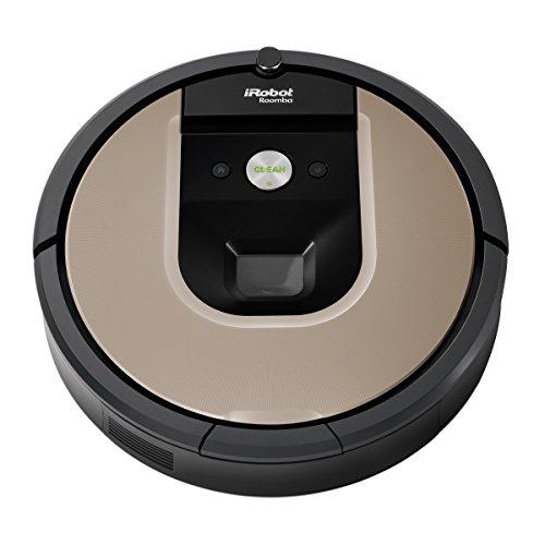 iRobot Roomba 966Saugroboter(beutellos, 0,6L, Auto, Spot, Teppich, Linoleum, Fliesen, Li-Ion) schwarz/silber