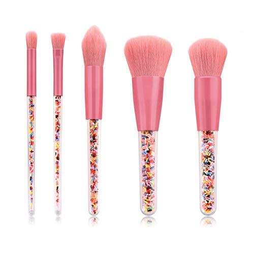 Make Up Brush Set Pinceau de maquillage Set débutant rose Outils de maquillage portable Poudre Ombre à paupières Pinceau