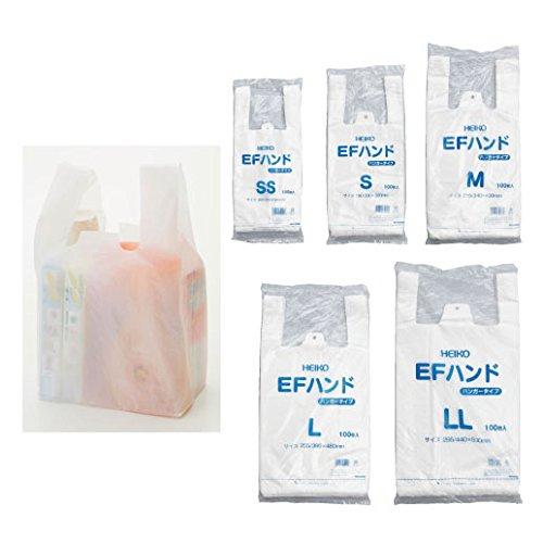 シモジマ レジ袋 乳白 EFハンド 05464 1セット 4000枚:100枚×40袋 23-7269-01