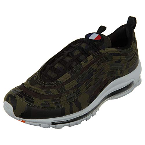 NIKE Air Max 97 QS Premium Schuhe Sneaker France Pack (EU 36 US 4 UK 3.5, Medium-Olive/Black-Dark Army)