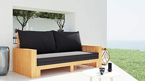 ARTELIA Savoy Sofa Lounge-Set, Gartenmöbel Set für Garten, Terrasse und Wintergarten, Garnitur, Couch, Loungemöbel Natur Holz Farbe