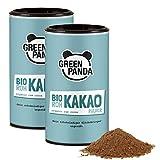 Bio Roher Kakao aus Premium Kakaobohnen, Kakaopulver ohne Zucker und stark entölt, 28 g Protein, laborgeprüft und zertifiziert, 2 x 125 g von Green Panda