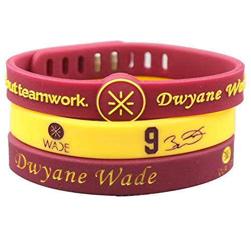 ZWH Cavaliers Estrella de la NBA Dwyane Wade Nº 9 Firma Pulsera...