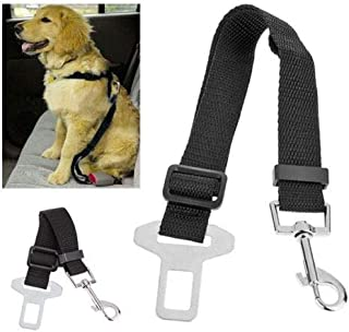 RHX Adjustable Dog Car Seat Belt Pet Lead Leash Harness Reflective Stripe Vehicle Safety Seat Belt with Elastic Bungee Buffer by SamGreatWorld