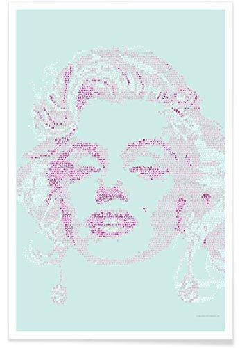 "JUNIQE® Marilyn Monroe Poster 80x120cm - Design ""Marilyn"" entworfen von Viktor Hertz"