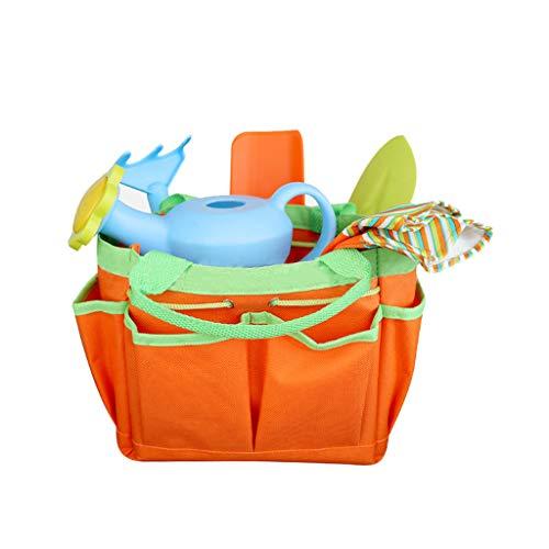 8 Stück/Set Mini Gartengerät mit Einkaufstasche Handschuhe Schaufeln Rechen Kinder Gartenspielzeug