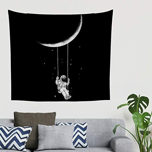 O5KFD & 8 Astronaut design tapijt Gothic veelzijdigheid plafonddecoratie - maanpatroon print voor studentenhuisdecoratie