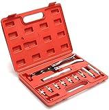 11 en 1 caja universal del profesional 11pcs de la válvula automática Stem Conjuntos Kit de herramientas de instalación del sello de estar alicates Alicates removedor Set Socket Wrench