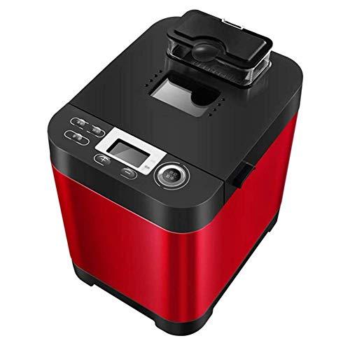 Brotbackautomat 220 V, multifunktionale Brotmaschine aus Edelstahl 450 W, 18 Einstellungen, 3 Farben von Krust, 13 Stunden Timer, Antihaftbeschichtung, rutschfeste Füße, rot 20 xiao1230