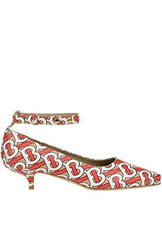 Luxury Fashion | Burberry Dames MCGLCAT0000E7144E Rood Leer Ballerina's | Seizoen Outlet