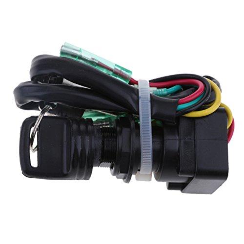 1 pieza Interruptor de Llave de Encendido para Motor Fueraborda Yamaha Plástico