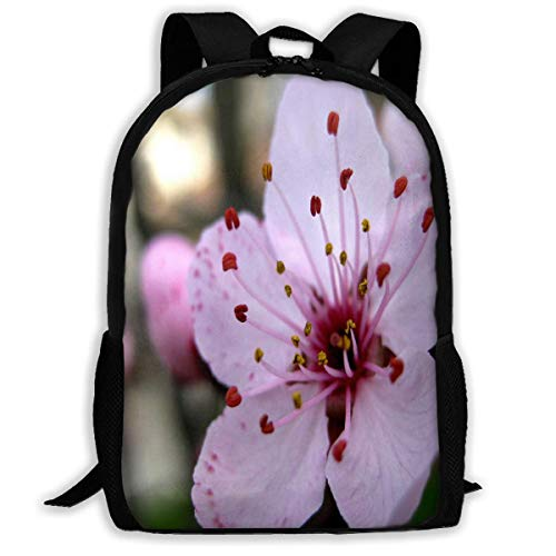 TTmom Zaini/Zaino Casual,Borse a Zainetto, Backpack for Adults Cherry Blossoms Flowers Pink Shoulders Bag