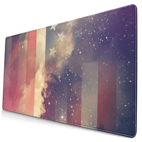 Gaming Mouse Pad, Mousepad Vintage American Starry Sky Kostenlos Patriotischer Gedenktag am 4. Juli