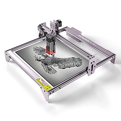 ATOMSTACK A5 Pro Laser Engraver, 40W Laser Engraving Cutting Machine for Wood, 5W-5.5W Output Power, Compressed Spot CNC Carving DIY Laser Master, Eye Protection Fixed-Focus, 400x410mm