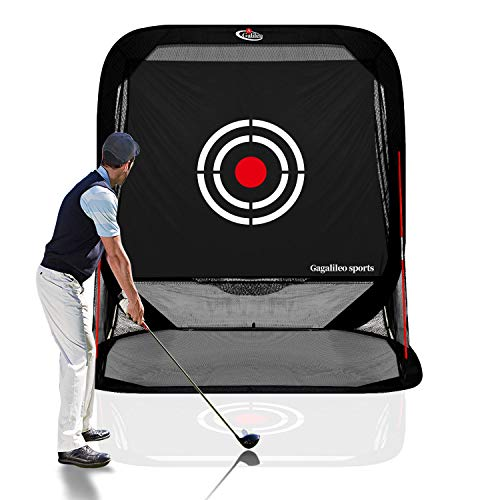 Gagalileo Golf Nets Driving Range 8'(L) X7'(H) X7'(W) Pop Up Golf Hitting Net Training Aid for Backyard Indoor with Target and Carry Bag Black