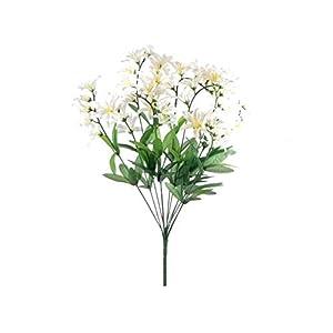 """Silk Flower Arrangements Cream Freesia Bush Filler Artificial Silk Flowers 22"""" Bouquet 12-0999 CR"""