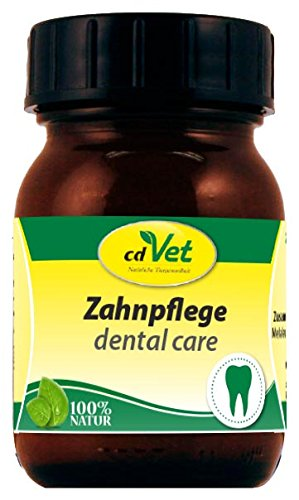 cdVet Naturprodukte Zahnpflege 75 ml - Hund - Pflegemittel - reinigt + pflegt - Zähne + Zahnfleisch - Vorbeugung von schlechtem Atemgeruch + Zahnsteinneubildung - reichhaltige Öle - Gesundheit -