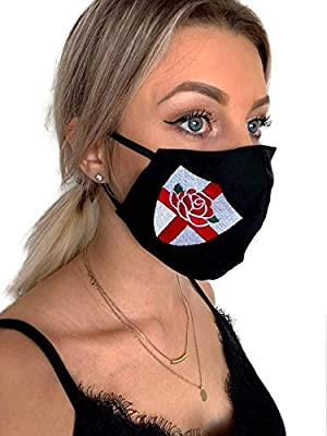 Rugby England English Rose Shield Face Mask, 100% Cotton Face Mask, Washable, Rugby, England, Shield, Face Mask from