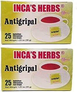 Inca's Herb Antigripal Tea in Bags - 1.23 Oz - 35 grs. - 2 PACK.