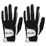 chensong Guante de Golf 2 pcs Golf Gloves Hombres Mano Izquierda Verde Negro 3D Rendimiento Malla Antideslizante Micro Fibra Hombre Golf (Color : Worn On Left Hand C, Size : 26 X Large)