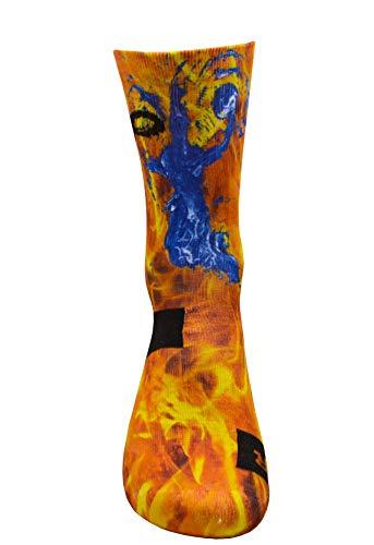 Brutal Basketball Player Red Socken mit Eigenem Handgefertigte Motiv Design 3D Druck Socken für Basketball Fitness Volleyball Tennis Laufen Atmungsaktiv Coolmax Sportsocken für Höhe Leistung (47-50)