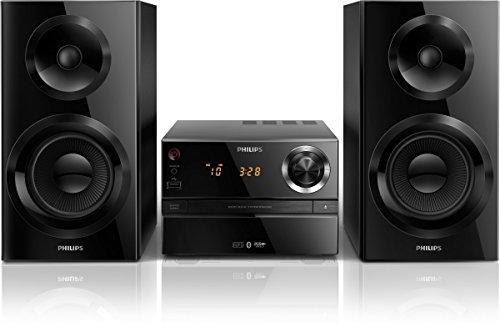 Philips BTM2360 - Microcadena con Bluetooth (puerto USB para carga, reproduce MP3-CD, CD, CD-R RW, sinotizador digital con presintonías), color negro
