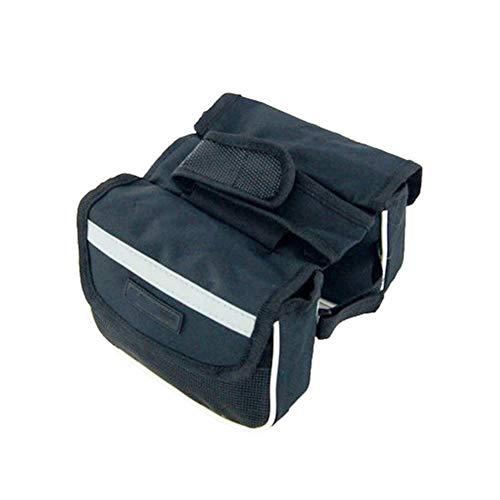 Bolsa de cuadro de bicicleta Impermeable bolso de la bici plegable doble bolsa bolso de la bici delantera de la bicicleta de ciclo superior del marco del tubo bolsa de la caja de Montaña 3 en 1 bolso