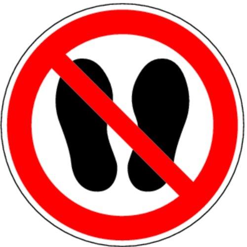 H.Klar Aufkleber Betreten der Fläche verboten D-P015 ähnlich ISO 7010 ISO-P024 200mm