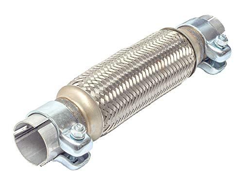 Flexrohr 45 x 200 mm AUSPUFFROHR - Montage ohne Schweißen - Flexstück flexibles Krümmerrohr Hosenrohr