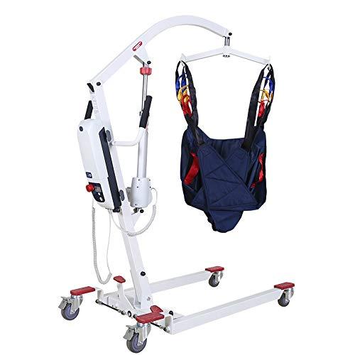 YXP Elektrischer Patientenlifter Hydraulischer tragbarer Lifter mit Netzgurt, Einstellbarer Basisbreite und austauschbarer Ladestation, 500 lbs. Sichere Arbeitslast