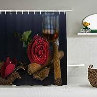 シャワーカーテンフォレストディアエルク防水バスライナーフックが含まれていますdBathroom装飾的なアイデアポリエステル生地アクセサリー