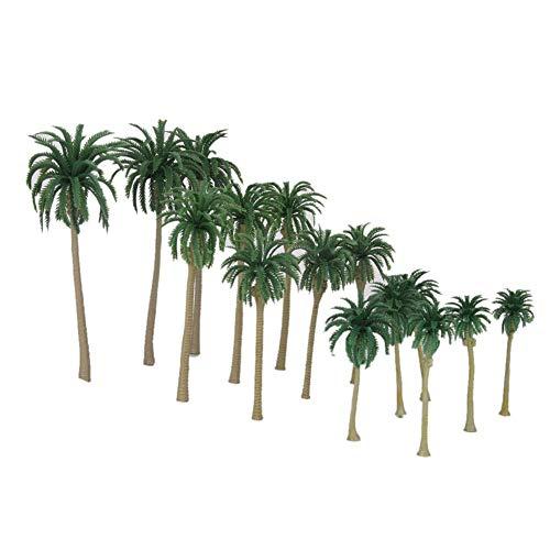 BOVER BEAUTY 15st Miniatur-Palme Kunststoff Miniatur-Modell Bäume für Züge Bahnanlage Landschaft-Landschaft Zubehör Spielzeug für Kinder