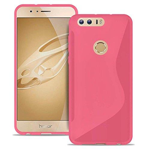 Cover Sottile S-Line per Huawei Honor 8 | Borsa Tinta Unita in Rosa