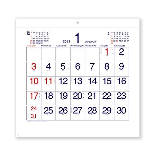 新日本カレンダー 2021年 カレンダー 壁掛け コンパクト文字 NK462