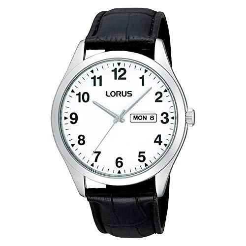 Lorus Mens klassische weiße Gesicht Quarzuhr RJ643AX9