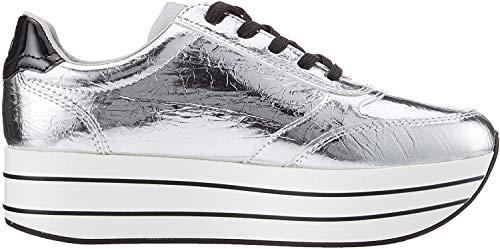 s.Oliver Damen 5-5-23641-34 Sneaker, Silber (Silver Crackle 945), 38 EU