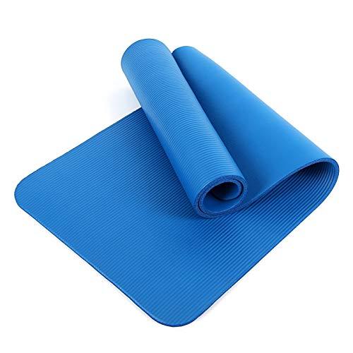 N/D Tapis de yoga de gymnastique multifonction, confortable, pliable, portable à emporter, bon antidérapant et flexible, convient pour l'intérieur et l'extérieur, bleu 1850 mm x 800 mm x 10 mm