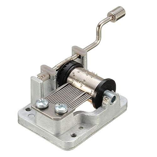 QIUQIAN Meccanismo di Carillon a Manovella Movimento del Meccanismo Musicale Movimento a Manovella in Metallo O per Carillon Fai-da-Te Harry Potter