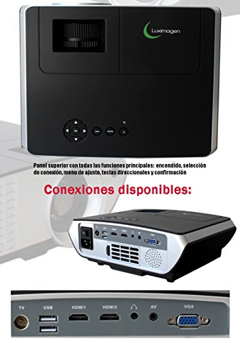 Proyector FULLHD modelo (2018)  Luximagen SV350, Android, Wifi ...