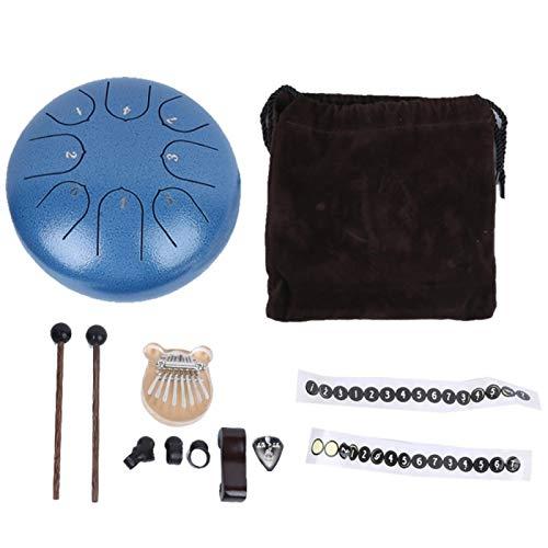 Tambor de lengua de acero resistente para yoga para actuaciones profesionales(blue)