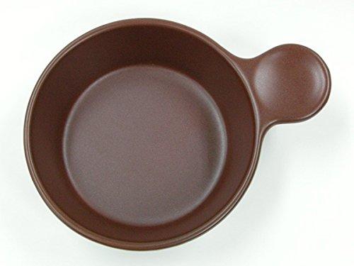 赤茶色 片手 グラタン アヒージョ鍋 口径15cm 直火OK 国産 美濃焼