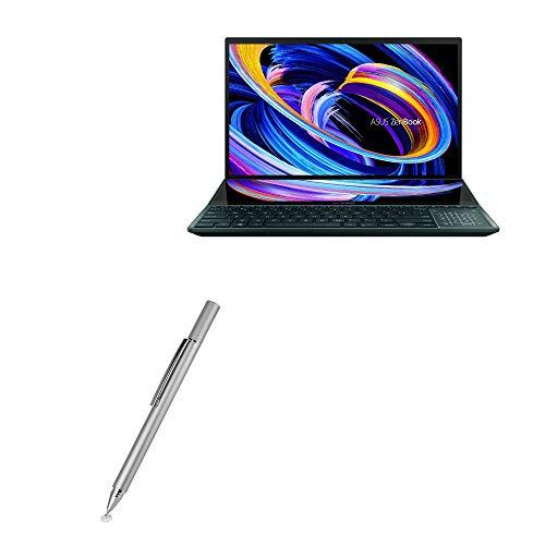 Caneta Stylus BoxWave para ASUS ZenBook Pro Duo 15 (UX582) [FineTouch capacitive Stylus] Caneta Stylus super precisa para ASUS ZenBook Pro Duo 15 (UX582) - Prata metálica