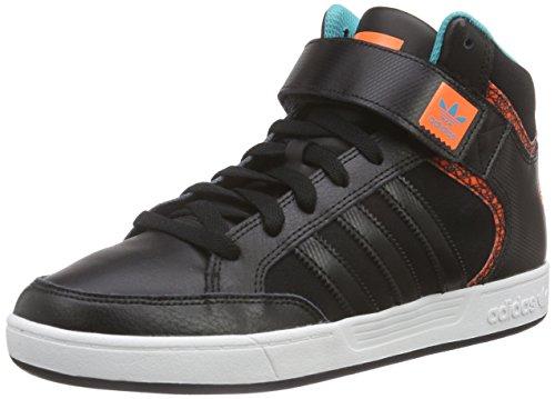 adidas Herren Varial Mid High-Top, Schwarz (Core Black/FTWR White/Solar Orange), 46 EU