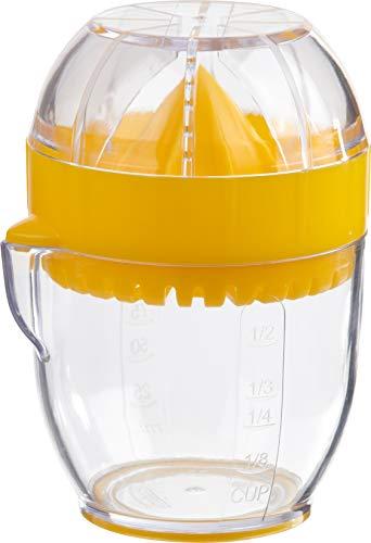 Trudeau Exprimidor de Limones, Tamaño Pequeño o Compacto, Capacidad 125ml, con Base Antideslizante. Medidas 8 x 7.5 x 10.5 cm. Exprime limones. Apto para lavavajillas